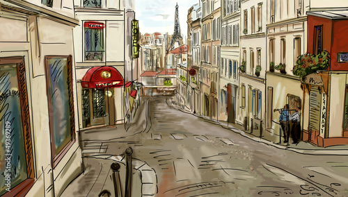 ulica-w-paris-ilustracja