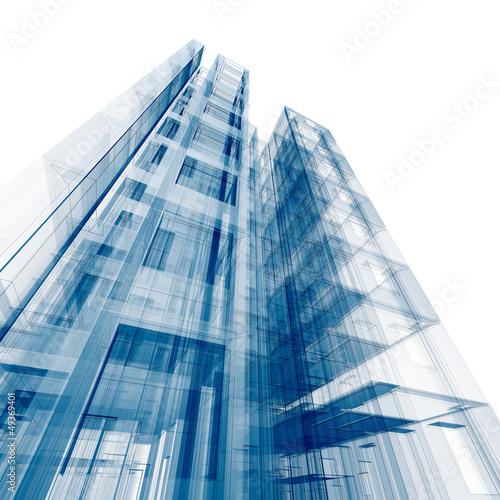 Nowoczesny obraz na płótnie Architecture concept
