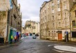 Old Town Street and the Castle in Edinburgh