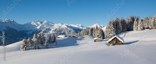 Winterpanorama in den Alpen #49375411