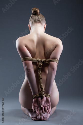 Photo  Nude young woman with shibari