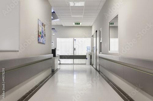 Hospital corridor Wallpaper Mural