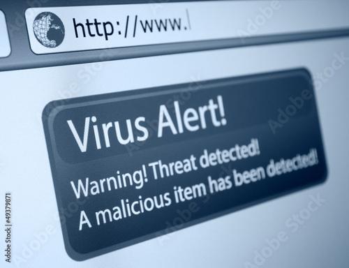 Fotografía  Alerta de virus