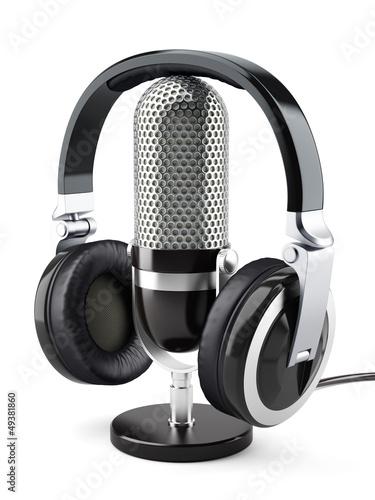 Fotografia  Headphones with microphone