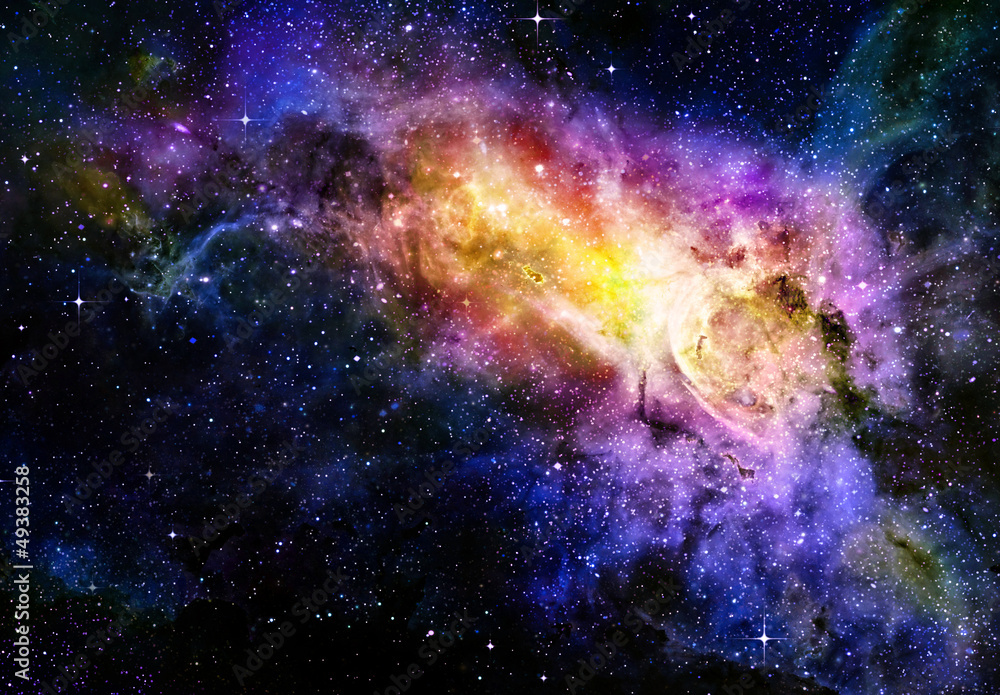 Fototapety, obrazy: starry deep outer space nebual and galaxy