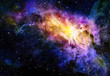 canvas print picture - starry deep outer space nebual and galaxy