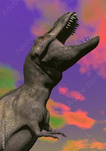 Fotografie, Tablou  Tyrannosaurus shouting - 3D render
