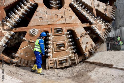 Photo  huge tunnel boring machine