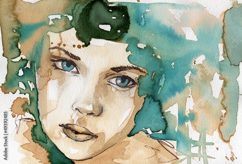 Fototapety, obrazy: watercolor illustration
