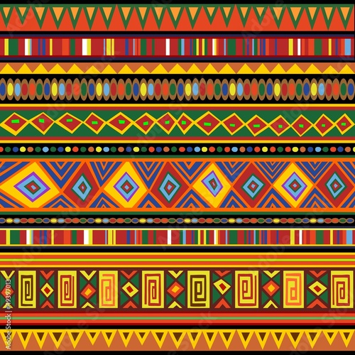 Poster Draw Ethnic Colorful Pattern Africa Art-Etnico Colori Arte Africa