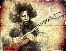 Guitarist - A Hand Drawn Grung...