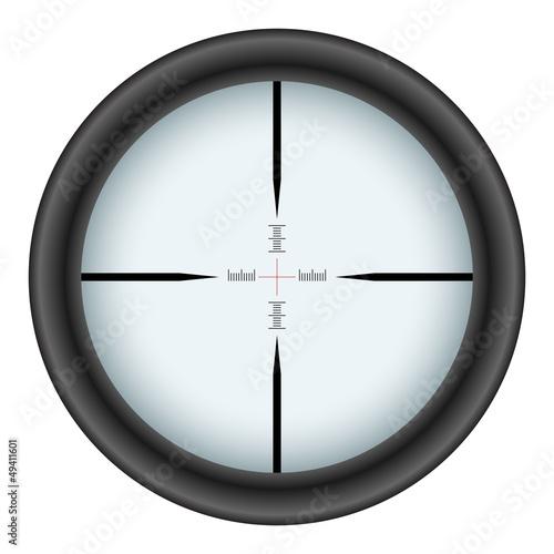 Cuadros en Lienzo Rifle scope crosshair vector illustration