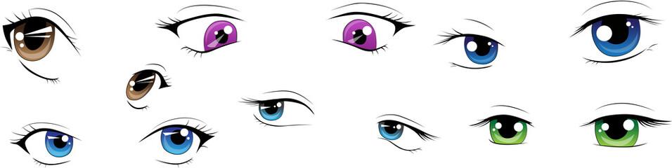 Manga-Augen Ausdrücke - Vektorpaket