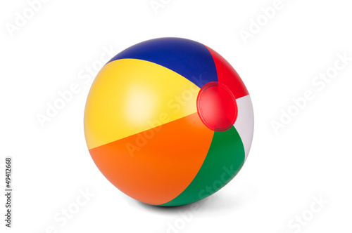 Fototapeta Colored inflatable beach ball