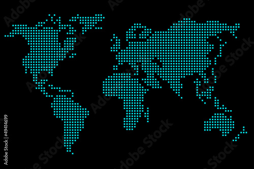 Wall Murals World Map Pixel map