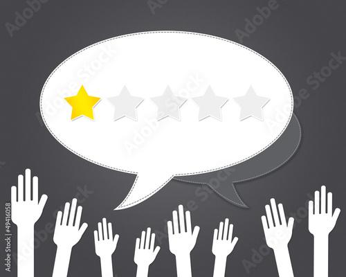 Valokuva avis - consommateur - une étoile