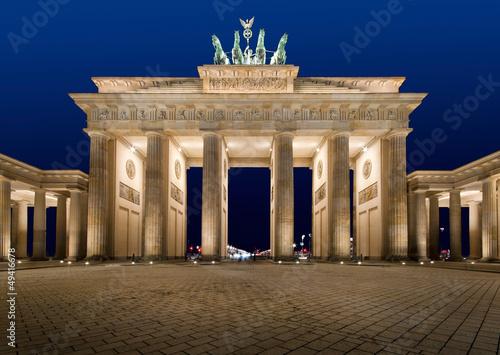 Keuken foto achterwand Berlijn Brandenburger Tor bei Nacht