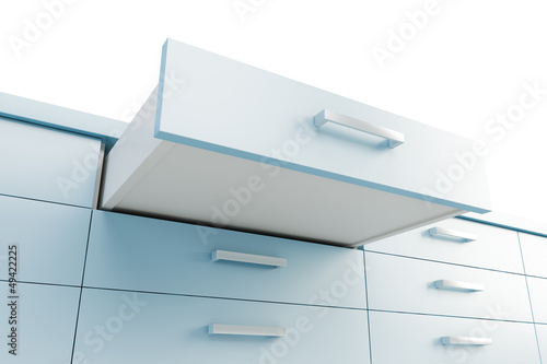 cupboard with opened drawer Wallpaper Mural