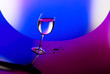canvas print picture - Beautiful wineglass
