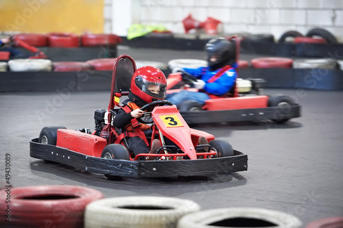Photo Stands Motor sports Competition for children karting