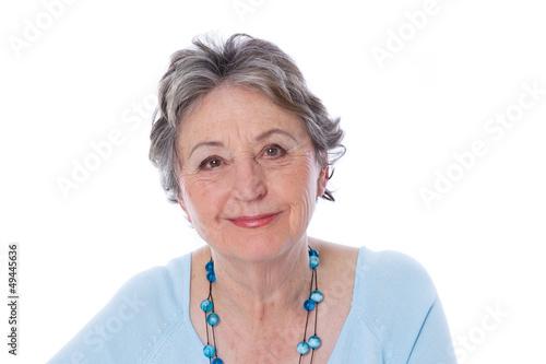 Fotografia Ältere Dame mit positiver Ausstrahlung