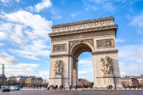 Photo sur Toile Paris Arc de Triomphe