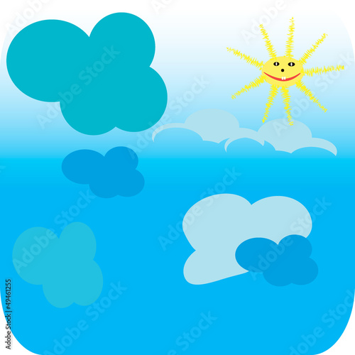 Printed kitchen splashbacks Heaven Good weather background. Blue sky with clouds