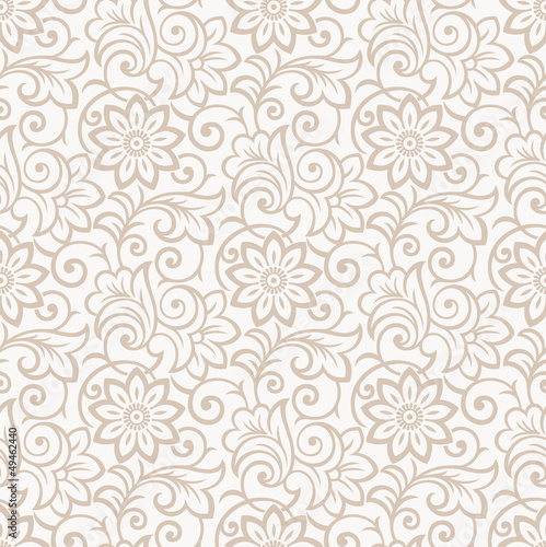 Floral seamless royal wallpaper