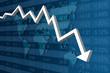Récession Économique Bleu