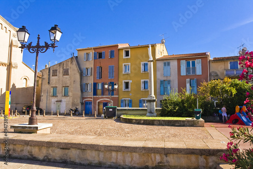city centre of Aubagne, near Marseille, France Canvas Print