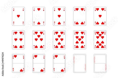 Spielkarten Herz Muster Buy This Stock Vector