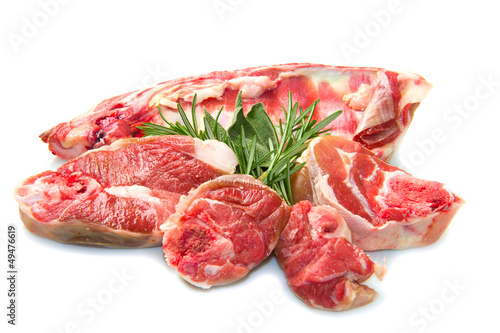 Foto op Canvas Vlees lamb meat with rosemary