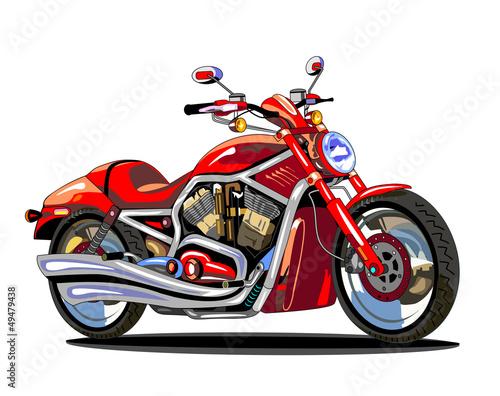 realistyczny-czerwony-motocykl