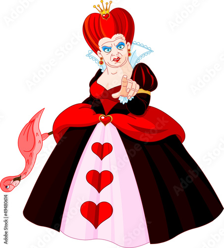 Printed kitchen splashbacks Fairytale World Angry Queen of Hearts