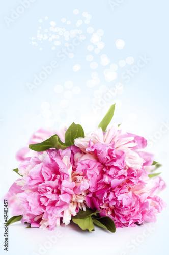 Tuinposter Azalea bouquet of peony