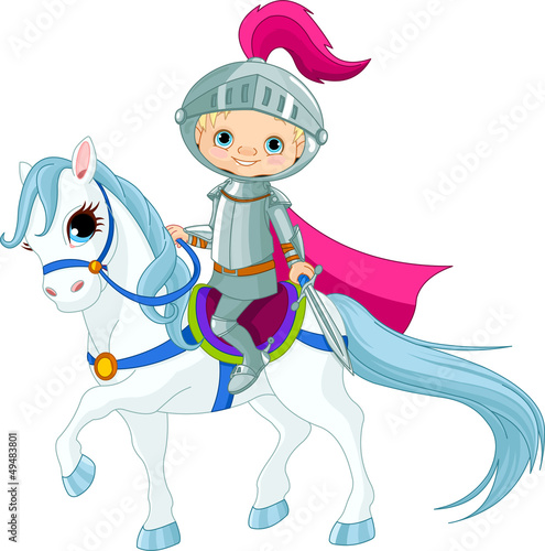 Garden Poster Pony Knight on horse