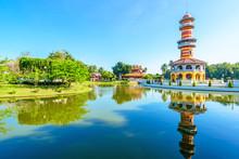 The Thai Royal Residence In Bang Pa-In Palace, Ayutthaya, Thai