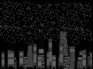 Fototapetavector illustration of cities silhouette