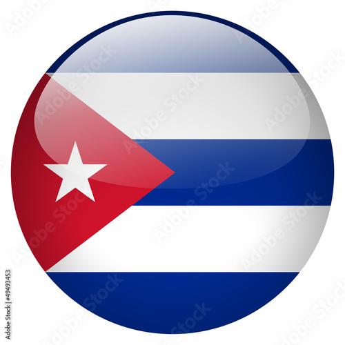 Photo Cuba flag button