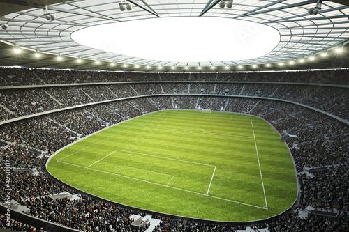 fototapeta na szkło Stadion mit Blick von Oberer Tribüne