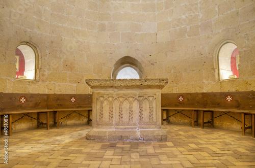 Photo  Templar court in Veracruz medieval church Segovia, Spain