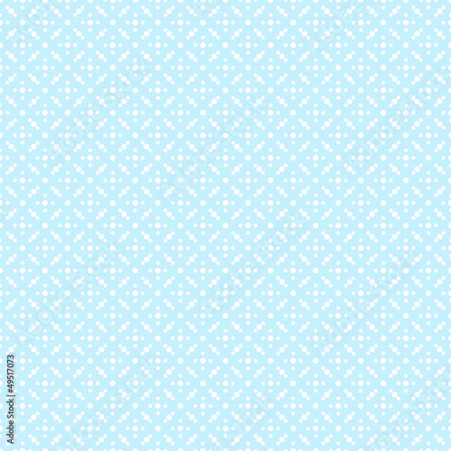 Seamless Pattern Dots Retro Blue - 49517073