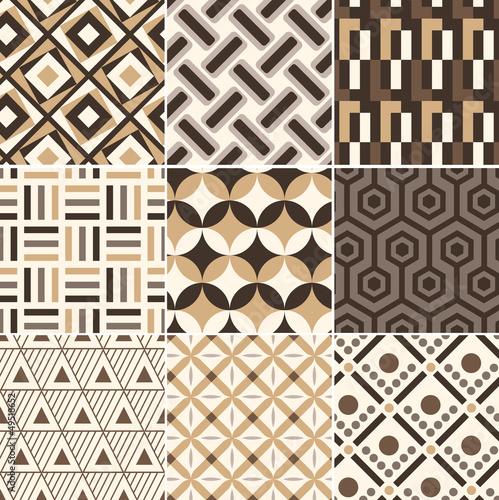 bezszwowe-zloty-geometryczny-wzor-retro