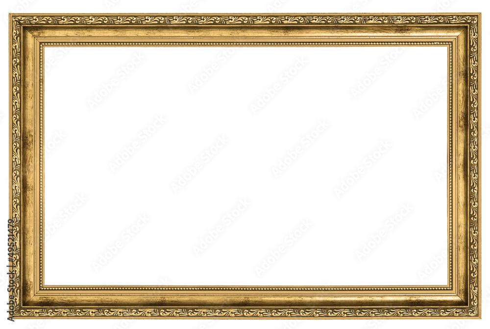Fototapeta large golden frame