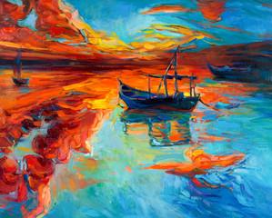 Fototapeta na wymiar Boats