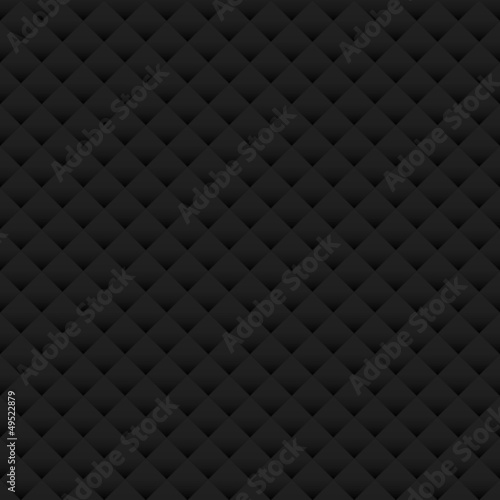 Ingelijste posters Leder Paper Background Seamless Pattern Black