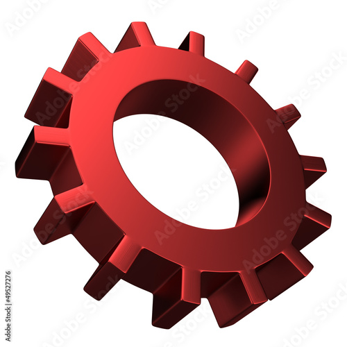Photo 3D Gear...The mechanism... Isolated on white background