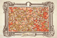 Vintage Floral Paiting In A Frame