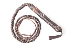 Brown Leather Whip Isolated On...