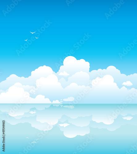 Papiers peints Ciel Clouds and calm sea
